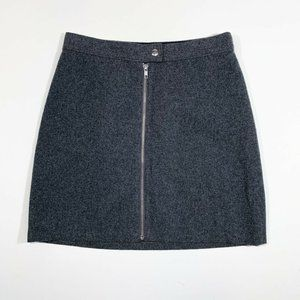 Madewell | Studio Zip Skirt Grey Felt